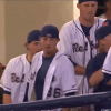 Ole Miss Baseball Player Celebrates Double with Double-Jerk Motion in the Dugout [VIDEO]
