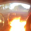 Inside Of Race Car Catches FIRE While The Drivers Are Still Driving [Video]