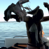 Bros Ditch Crowded Beach To Surf Behind Behind A Luxury Yacht, Living The American Dream [Video]