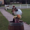 Worst Groom Ever Wildly Drops Bride During Grand Entrance For Wedding [Video]