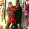 Mr. Incredible vs Batgirl Fight on Hollywood Blvd Features Chewbacca & Where's Waldo [Video]