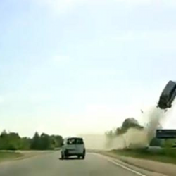 Trending Videos: Russian Dash-Cam Features Car Launching Through The Air Like a Missile