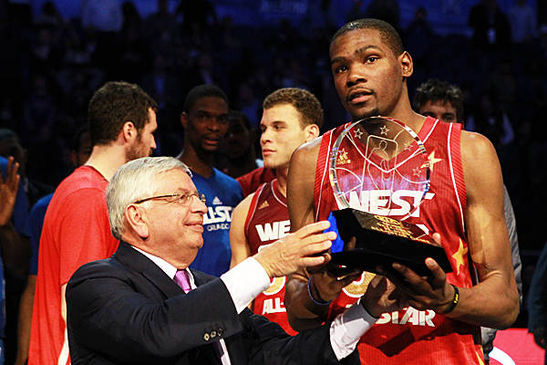 MVP Kevin Durant, Kobe Bryant help West win All-Star Game..