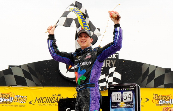 Denny Hamlin holds on for Phoenix win & 18th career Cup win....