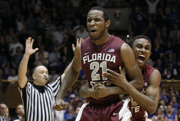 Florida State beats UNC 85-82 to win its first ever ACC Championship....