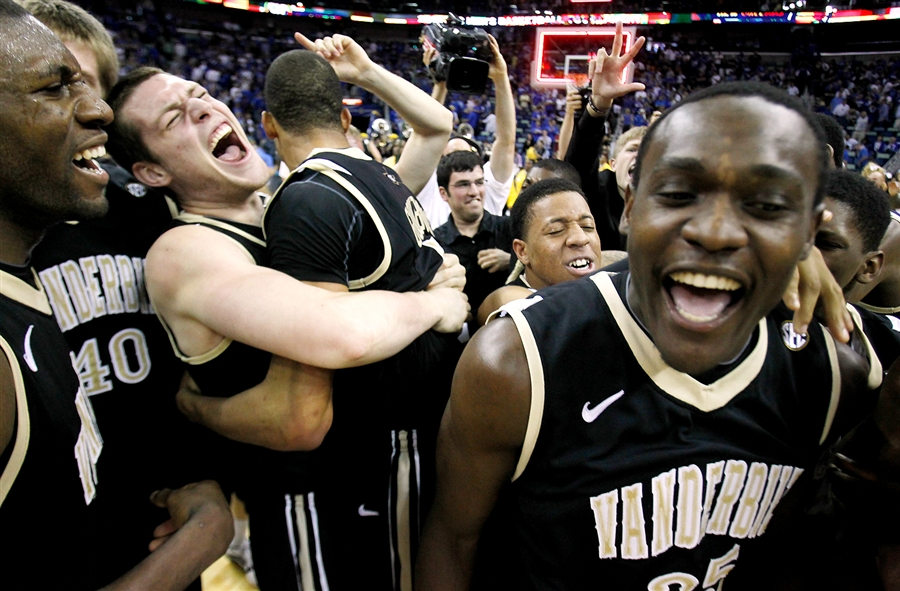 Vanderbilt upsets #1 Kentucky 71-64, for the program's first SEC tournament title in more than 60 years...