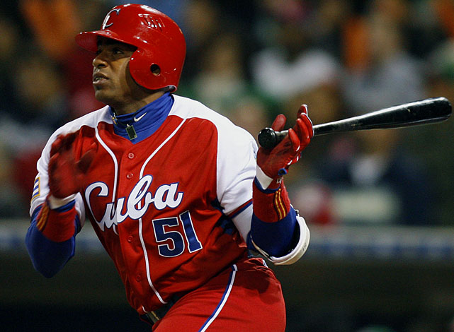 Oakland A's officially sign Cuban outfielder Yoenis Cespedes to a 4yr $36M contract.....