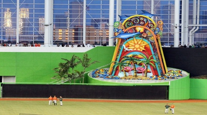 Omar Infante Hit the First Home Run in Marlins Park and Wow, That Structure Is a Pointlessly Stupid Spectacle!