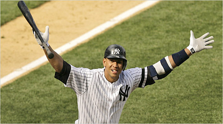 Breaking Records: New York Yankees 3B Alex Rodriguez Hits 631st Career Home Run, Now Fifth All-Time...
