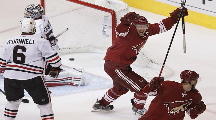 Slap Shots: Coyotes Beat Blackhawks 3-2 in Overtime in a Very Physical Game - Phoenix Leads Series 2-1