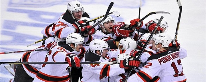 Devils' Adam Henrique Scores in Double OT to Eliminate the Panthers 3-2, and Now Face the Flyers in Round 2..
