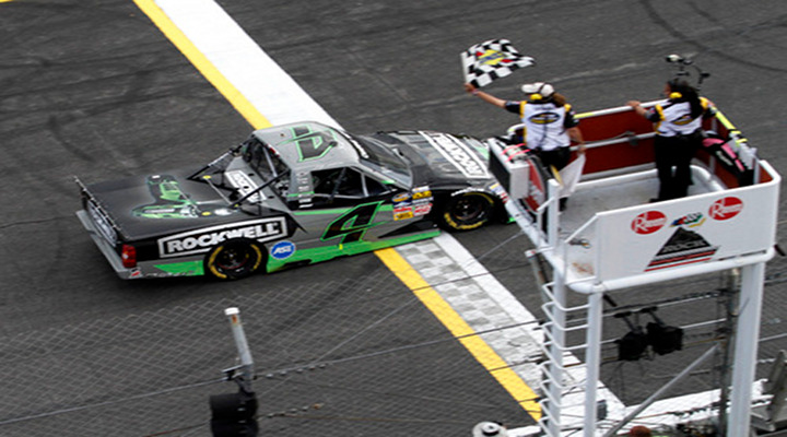 Kasey Kahne Wins His Fourt CWTS Victory in Five Starts...