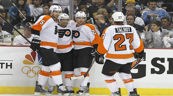 Sean Couturier & Claude Giroux Score Three Goals Apiece to Lift Flyers Over Pens 8-5 in Pittsburgh - Flyers Lead Series 2-0