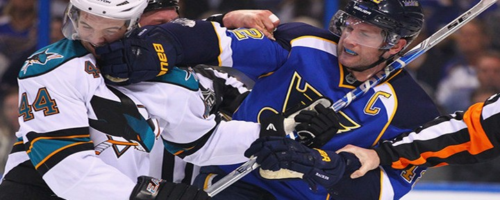 Blues Shut Out Sharks in a Fight Filled Game 2, for First Playoff Win Since 2004 - Even Series at 1-1