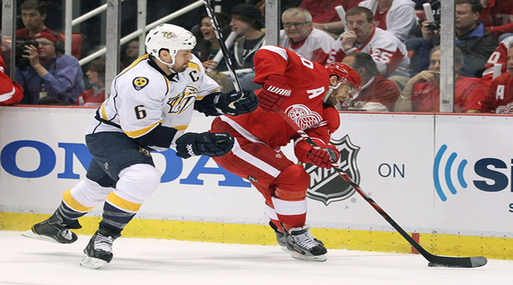 Shea Weber Scores Early to Help Predators Beat the Red Wings 3-2 in Detroit - Nashville Leads Series 2-1