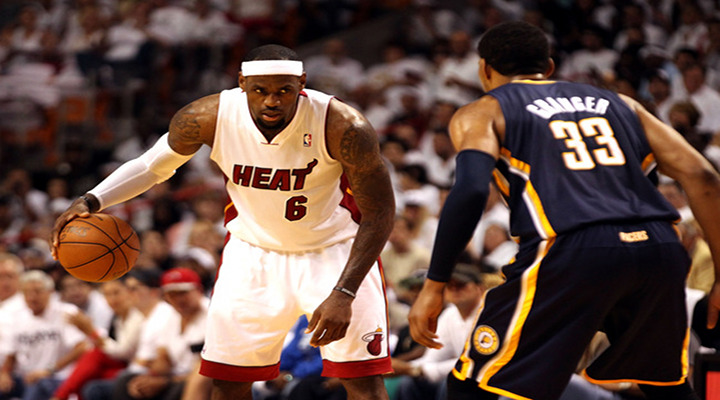 Lebron Scores 32 Points in the Heats 95-86 Victory of the Pacers in Game 1...