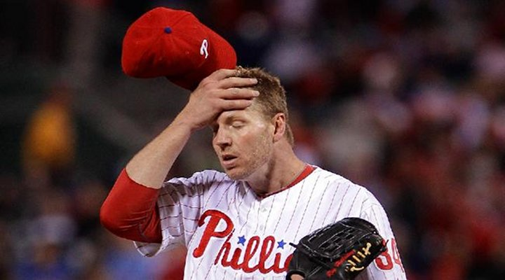 Phillies Ace Roy Halladay Out 6-8 Weeks with Muscle Strain...