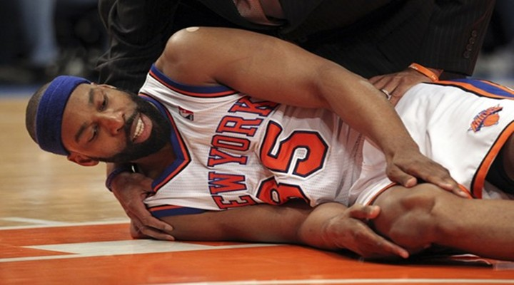 Knicks G Baron Davis Out a Year After Horrific Injury in Game 4....
