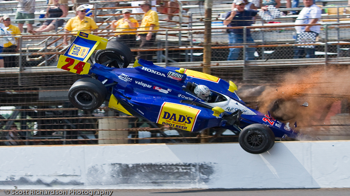 VIDEO: Mike Conway Crashed and Went Flying at the Indy 500