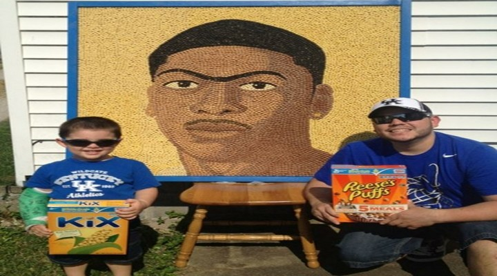 Kentuck Wildcats Anthony Davis Cereal Portrait?...... No Seriously?!