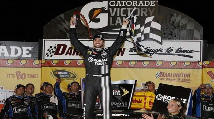 Jimmie Johnson Captures Checkered Flag at Darlington for his First Win of the Season and 200th for Hendrick Motorsports...