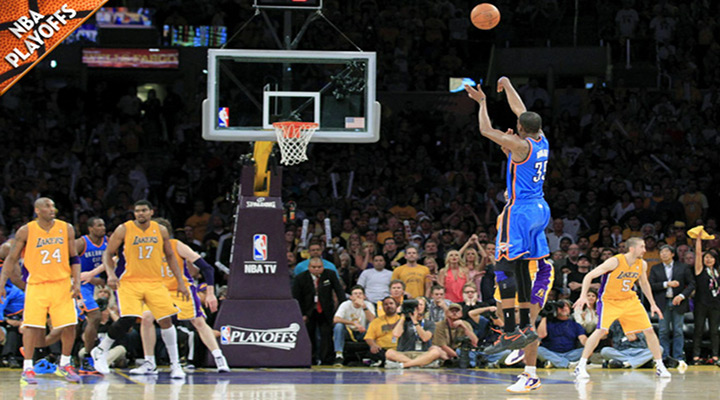 Durant Hits Late 3-Point Shot to Beat the Lakers 103-100 in Game 4 - OKC Leads 3-1