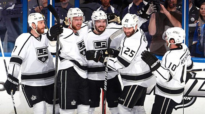 Kings Score 4 First Period Goals in Rout to a 5-2 Win Over the Blues - LA Leads Series 2-0