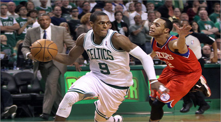 Rajon Rondo's Triple-Double Leads the Celtics 92-91 Victory over 76ers in Game 1...