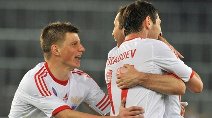 Russia's Alan Dzagoev's Scores Twice in 4-1 Victory of Czech Republic in Group A...