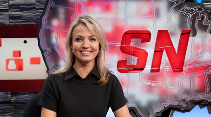 SportsNation's Michelle Beadle Sendoff was Shot Out of a Cannon!
