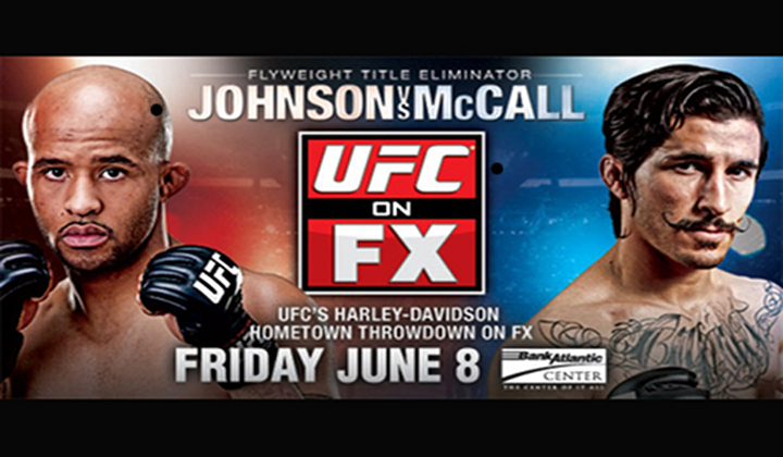 UFC Fly-Weight Bout Dometrious Johnson Vs. Ian Mccall Live on FUEL TV & FX! June 8th!