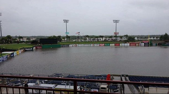 Tropical Storm Debby Massively Flooded Phillies' Minor League Ballpark