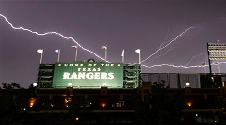 Hilarious Video: Extremely Loud Thunder Scared the Crap Out of the Rangers and Twins Players...