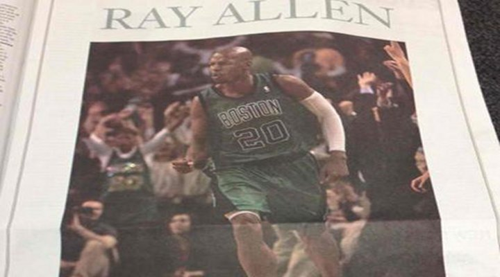 Classy Move Right ?: Ex-Celtic Ray Allen Takes Out Ad in Newspaper Thanking Boston Fans...