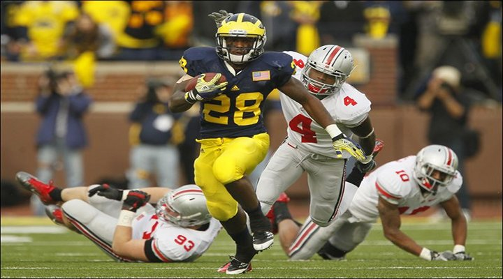 BoneHead: Michigan RB Fitzgerald Toussaint Suspended Indefinitely After DUI Charge...