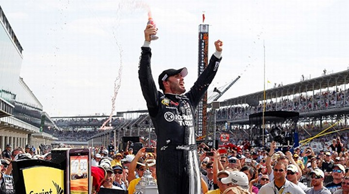 Sprint Cup Series: Jimmie Johnson Wins Fourth Career Brickyard 400..