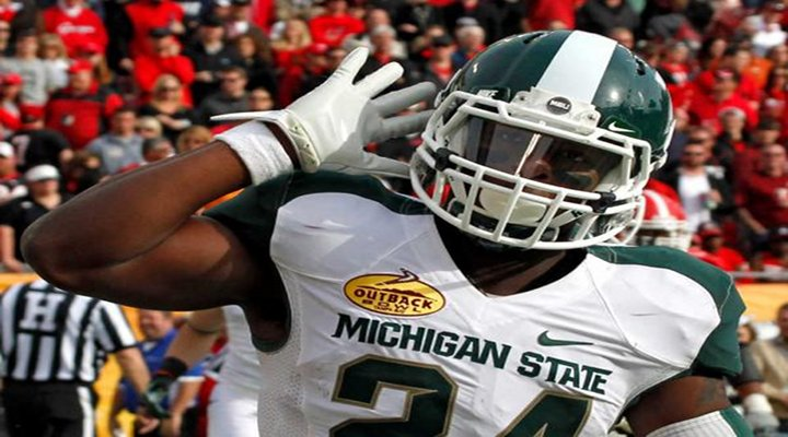 Video: Michigan State's Le'Veon Bell Hurdled a Boise State Defender