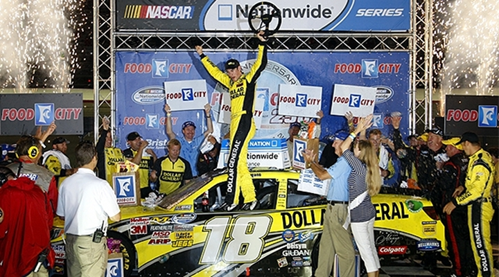 Nationwide Series: Joey Logano Wins at Bristol Motor Speedway for the First Time...