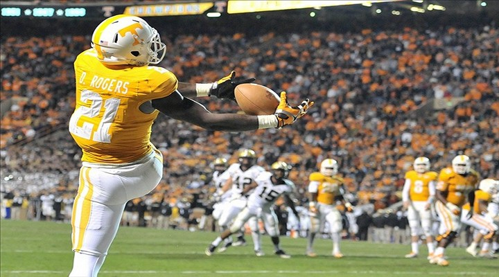 Tennessee WR Da'Rick Rogers Suspended Indefinitely for Violation of Team Rules