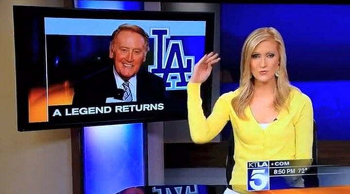 """Video: """"Come on Vin [Scully], Get Your Sh*t Together,"""" Says KTLA 5 News Anchor"""