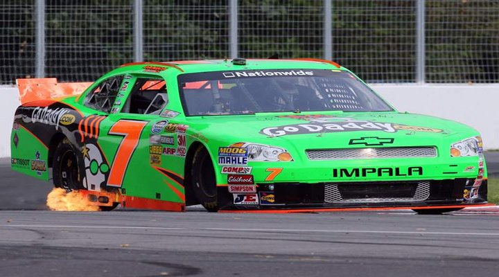 Video: Danica Patrick Ran Over a Shoe in Todays Race; Luckly She Did Not Crash
