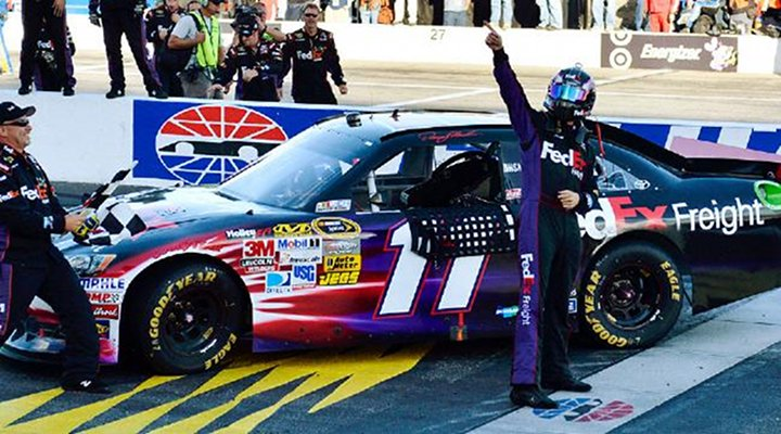 Sprint Cup Chase: Denny Hamlin Wins Fifth Victory of the Year at New Hampshire Motor Speedway...