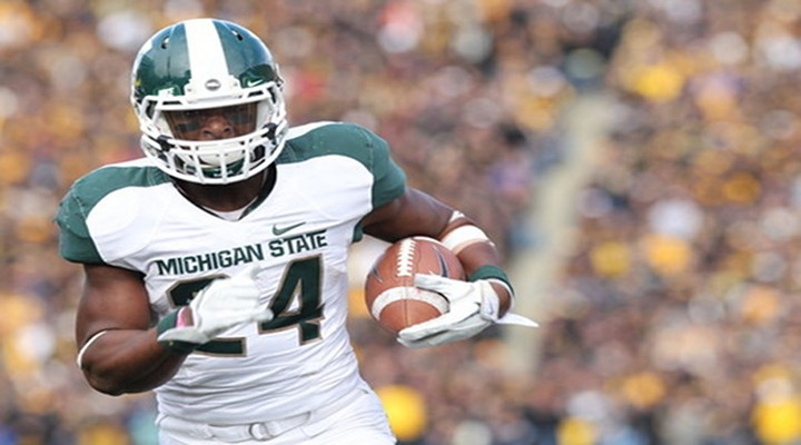 Video: Michigan State RB Laveon Bell Hurdles Over Irish Defender...