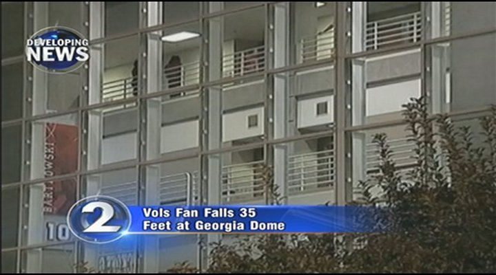 Tennessee Fan Falls From the Upper Deck at Georgia Dome and Dies....