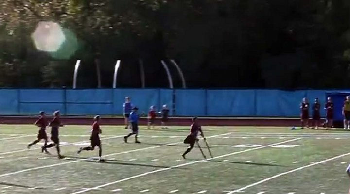 Video: High School Soccer Player Scores Amazing Goal with One Leg!