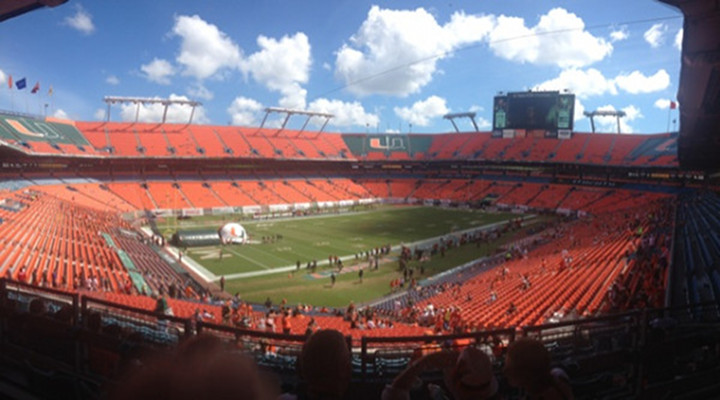 Miami Hurricane Fans Are Everywhere Except the Game Today...