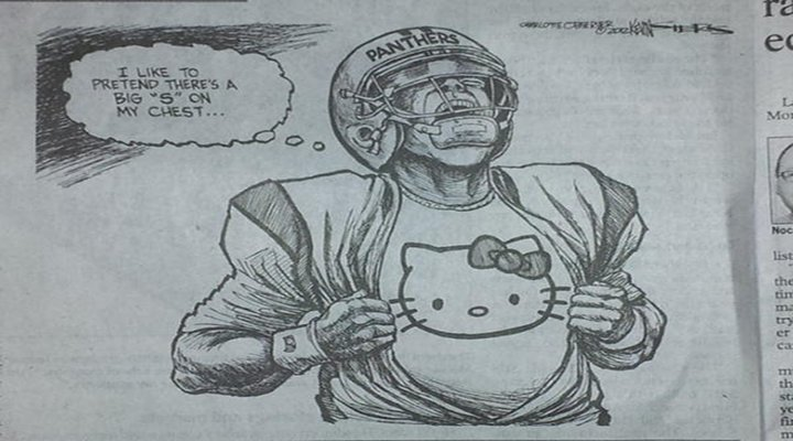 Carolina QB Cam Newton's Honeymoon is Over: Charlotte Observer Sees Him as More Hello Kitty Than a Panther