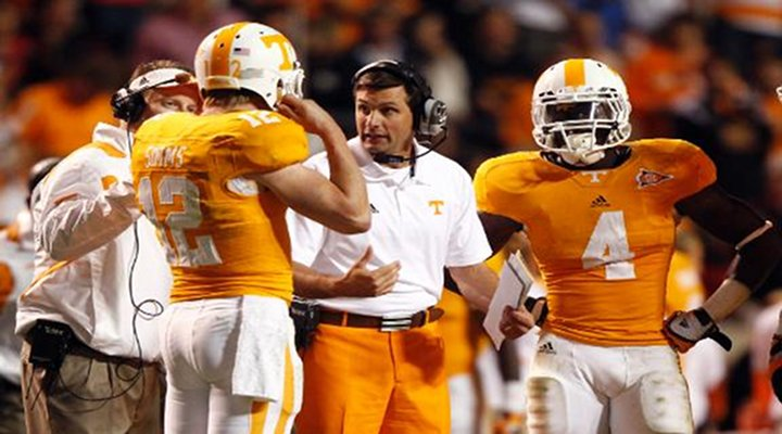 Video: Tennessee Coach Derek Dooley Was Not Impressed By the Vols Losing 37-20 to Florida, Spiked Ball in Frustration...