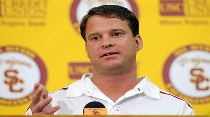 USC Coach Lane Kiffin's 28-Second Press Conference Was Bit Awkward & Short...