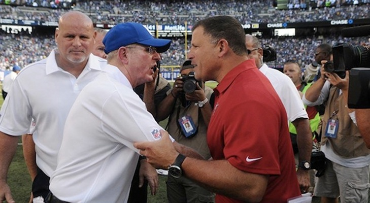 Tom Coughlin Got In Greg Schiano's Face After the Giants vs Buccaneers Game